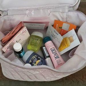 Beauty Samples + Makeup Bag